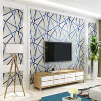 3D Modern Geometric Line Striped Living Room Sofa TV Background Wall Paper Bedroom Non-woven Wallpaper Decor Papel De Parede 3D