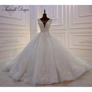 Image 1 - Amanda Design High end Customized Low Cut Deep V Sexy Luxury Backless Wedding Dress