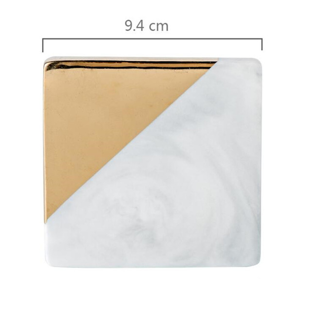 CFen A s Gold Marble Coasters Ceramic Coaster Tea Cup Pad Round Table Mat Coaster Coffee.jpg 640x640 - tabletop-and-bar, drinkware - Gold Marble Ceramic Coaster