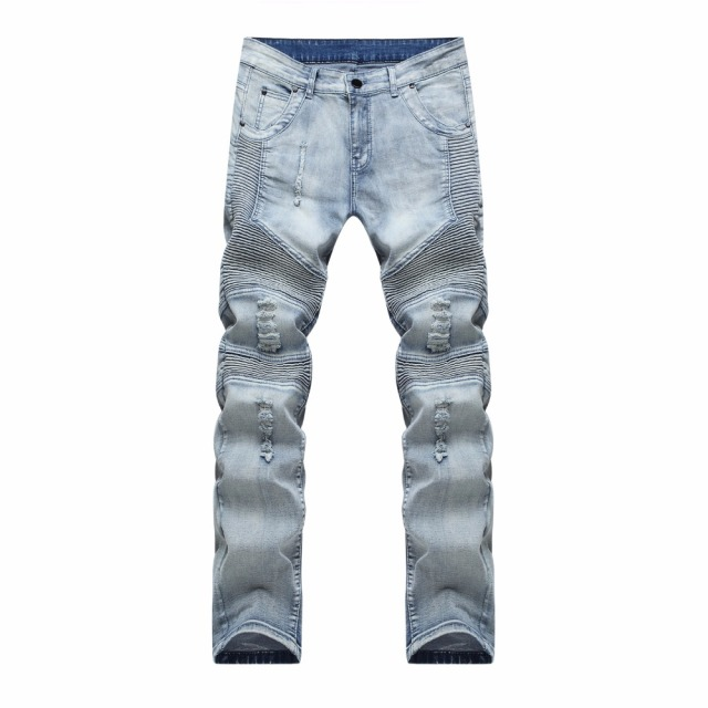 2017 hip-hop Men Jeans masculina Casual Denim distressed Men's Slim Jeans pants Brand Biker jeans skinny rock ripped jeans homme 2