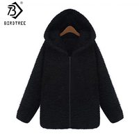 2017 New Plush Hooded Zipper Women Sweatshirt Fleece Thicken Coat Winter Cute Fashion Hooded Jacket Women Sweatshirt Hot C7N720A