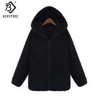 2017 New Plush Hooded Zipper Women Sweatshirt Fleece Thicken Coat Winter Cute Fashion Hooded Jacket Women