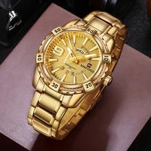 NAVIFORCE moda złoty zegarek mężczyźni luksusowa marka Army Military zegar kwarcowy męskie zegarki wodoodporny tydzień data Sport zegarki na rękę