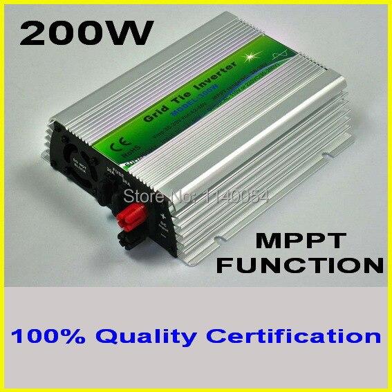 цена на 200W MPPT Grid Tie Micro Inverter with 20V-40VDC for 30V or 24V PV solar panel, Pure Sine wave 90-260VAC Full voltage output