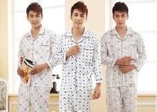 Plus Größe Herbst Männer Langarm Baumwolle Pyjama Set Winter Männlichen Mode Casual Nachtwäsche Sets Männer homewear 16