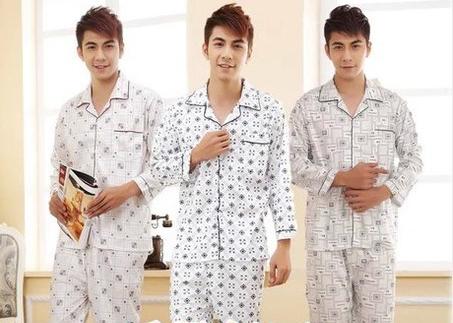 Plus Size Outono Homens de Manga Longa de Algodão Sleepwear Conjuntos de Pijama Definir Inverno Masculino Moda Casual Homens desgaste Casa 16