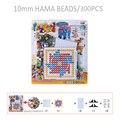10mm contas hama perler talão criança diy brinquedos Educativos Modelo Estêncil De Plástico quadrado Jigsaw Puzzle/SD-11A-f