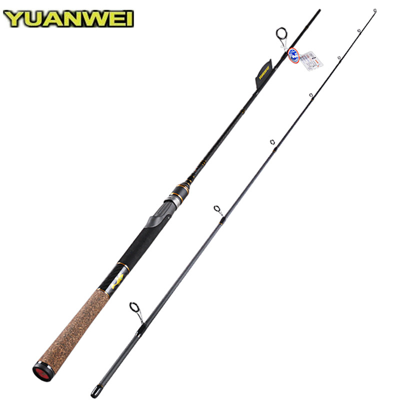 Yuanwei 1.98m 2.1m Spinning Fishing Rod 6-24g Lure Weight 2Section FUJI Guide Ring Lure Rods Vara De Pesca Carp Rod Olta Tackle noeby carbon spinning fishing rod 2 section1 98m 2 13m 2 44m m ml fuji a guide ring fuji reel seat vara de pesca olta lure rods