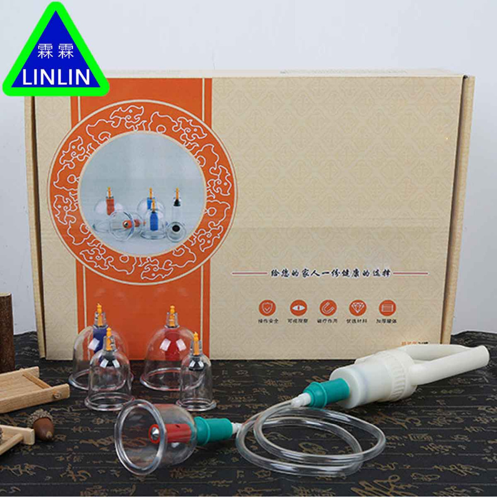 LINLIN 24 cans of household air suction vacuum thickening magnetic therapy beauty health cupping cupping цена