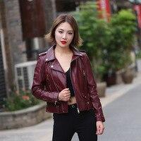 European&American women's Motor&Biker Jackets coat Fashion sheepskin leather jackets Short coat S532