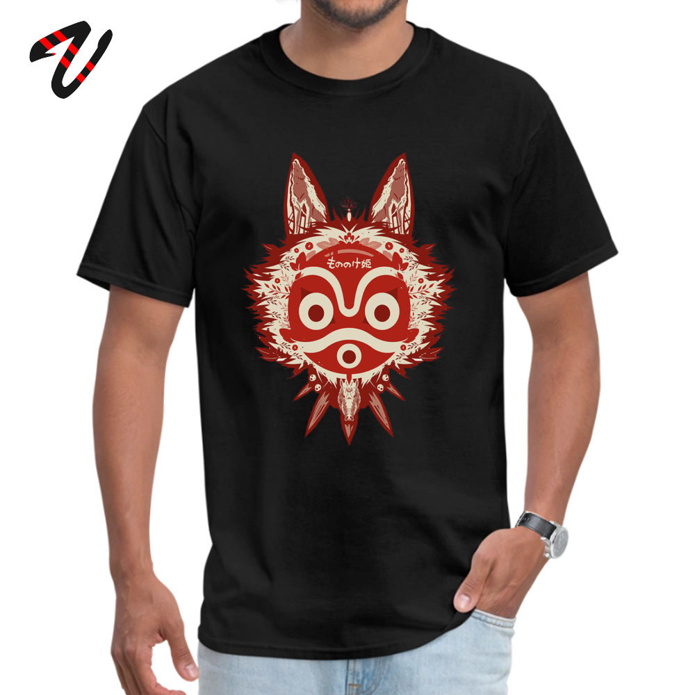 T Shirt Mononoke T-shirts Thanksgiving Day Company Design Short Sleeve Cotton Crewneck Mens T Shirts Design Drop Shipping Mononoke1907051146 black