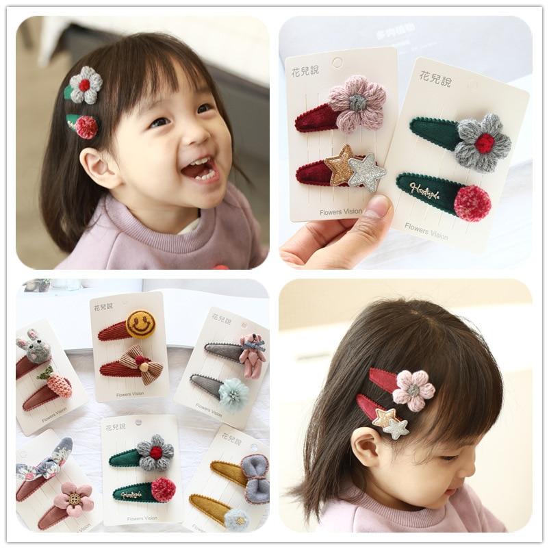 Korea Handmade Cloth Flower Crown Cartoon Doll Hair Accessories Hair Clip Hairpins Hair Bows Hairgrips for Girls in Hair Accessories from Mother Kids