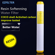 ФОТО coconut shell 20 inch resin water filter cartridge softenning water scale effectively removal demineralization