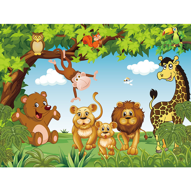3d Cartoon Animation Wallpaper For Kids Room Free Shipping Wall Stickers Art