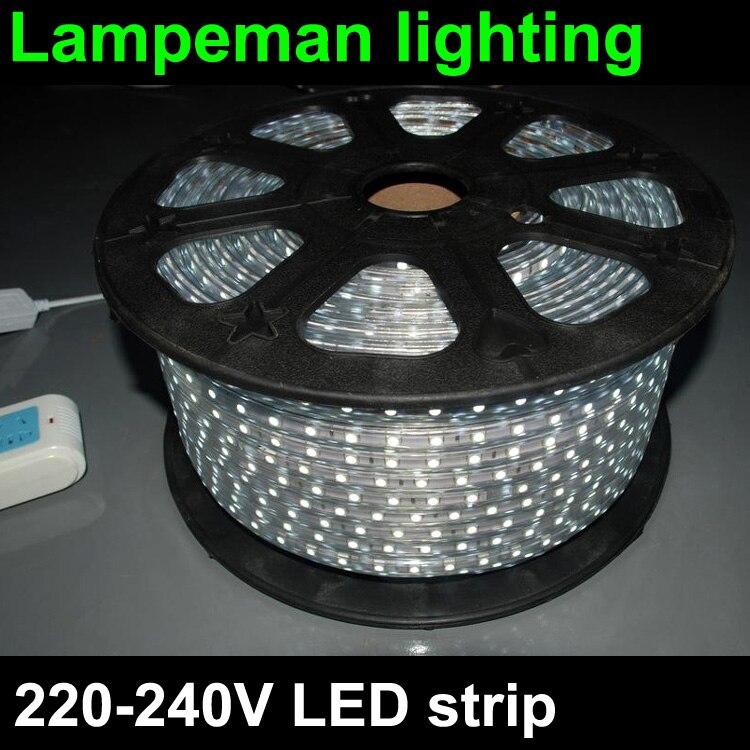 220v led strip light 230v 240v smd 5050 power plug 60leds. Black Bedroom Furniture Sets. Home Design Ideas