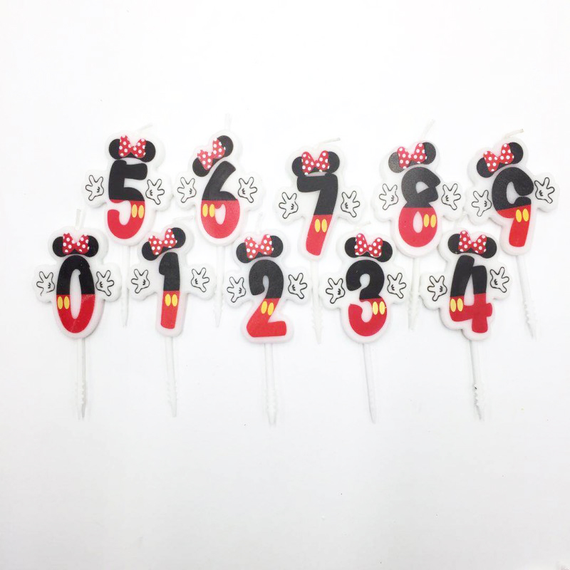 Birthday Cake Candle Mickay Mouse Party Supplies Candle 0 1 2 3 4 5 6 7 8 9 Anniversary Cake Numbers Age Candle Party Decoration in Cake Decorating Supplies from Home Garden