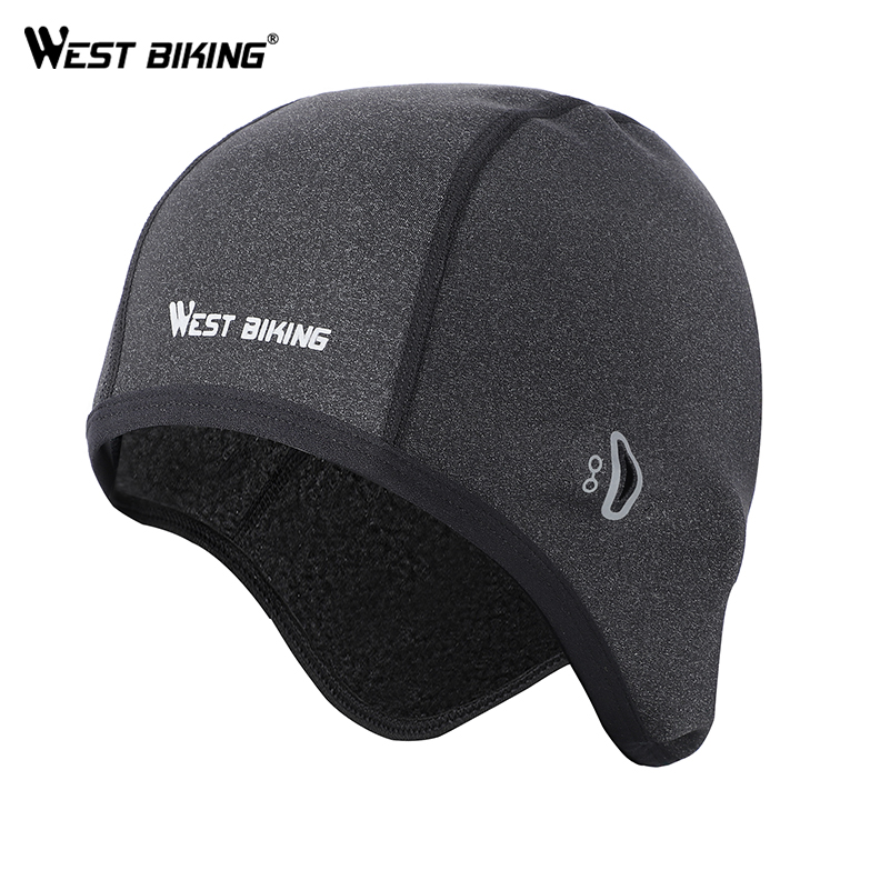 WEST BIKING Cycling Caps Winter Windproof Bike Hats Fleece Thermal Helmet Liner Men Women Outdoor Running Skiing Bicycle Caps