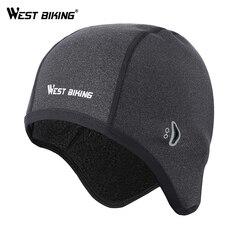 WEST BIKING Cycling Caps Winter Windproof Bike Hats Fleece Thermal Helmet Liner Men Women Outdoor Running Skiing Bicycle Caps