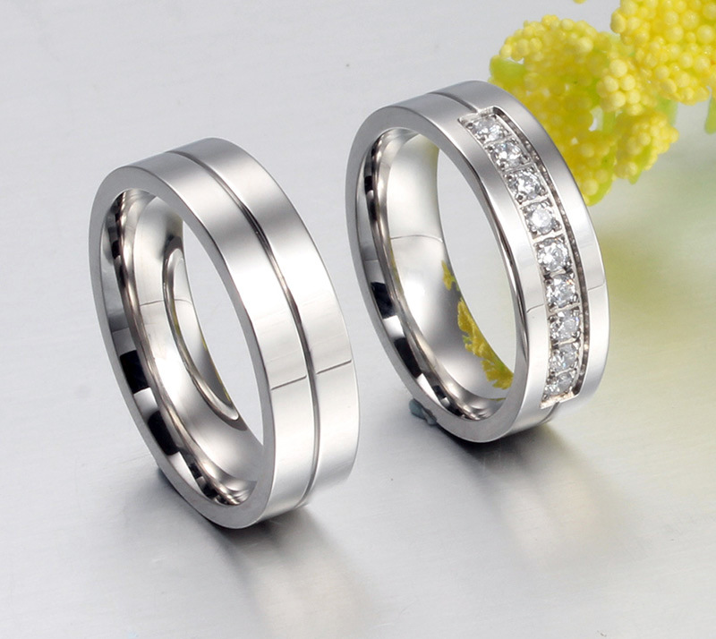 2018 New Romantic Wedding Rings For Lover Gold Color Stainless Steel