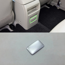 Car Accessories Interior Decoration ABS Rear Armrest Box Cover Trim 1pcs For Nissan Tiida 2016 Styling