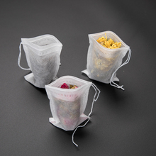 Newest 100 PCS/Lot Empty  Bag Teabags Infuser With String Heal Seal Sachet Filter For Suitable All Tea Bags