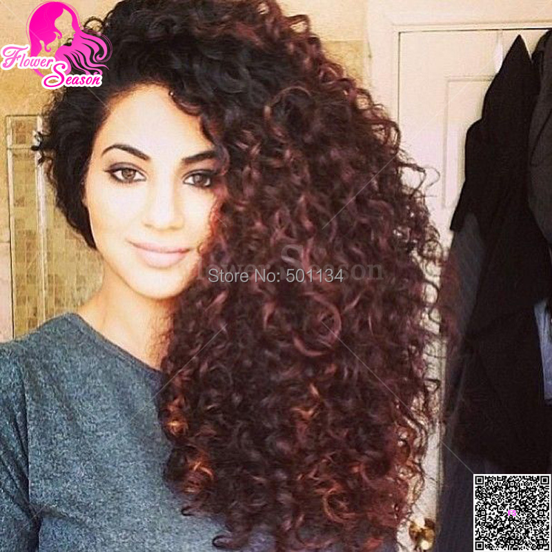 fashion curly u part wig ombre