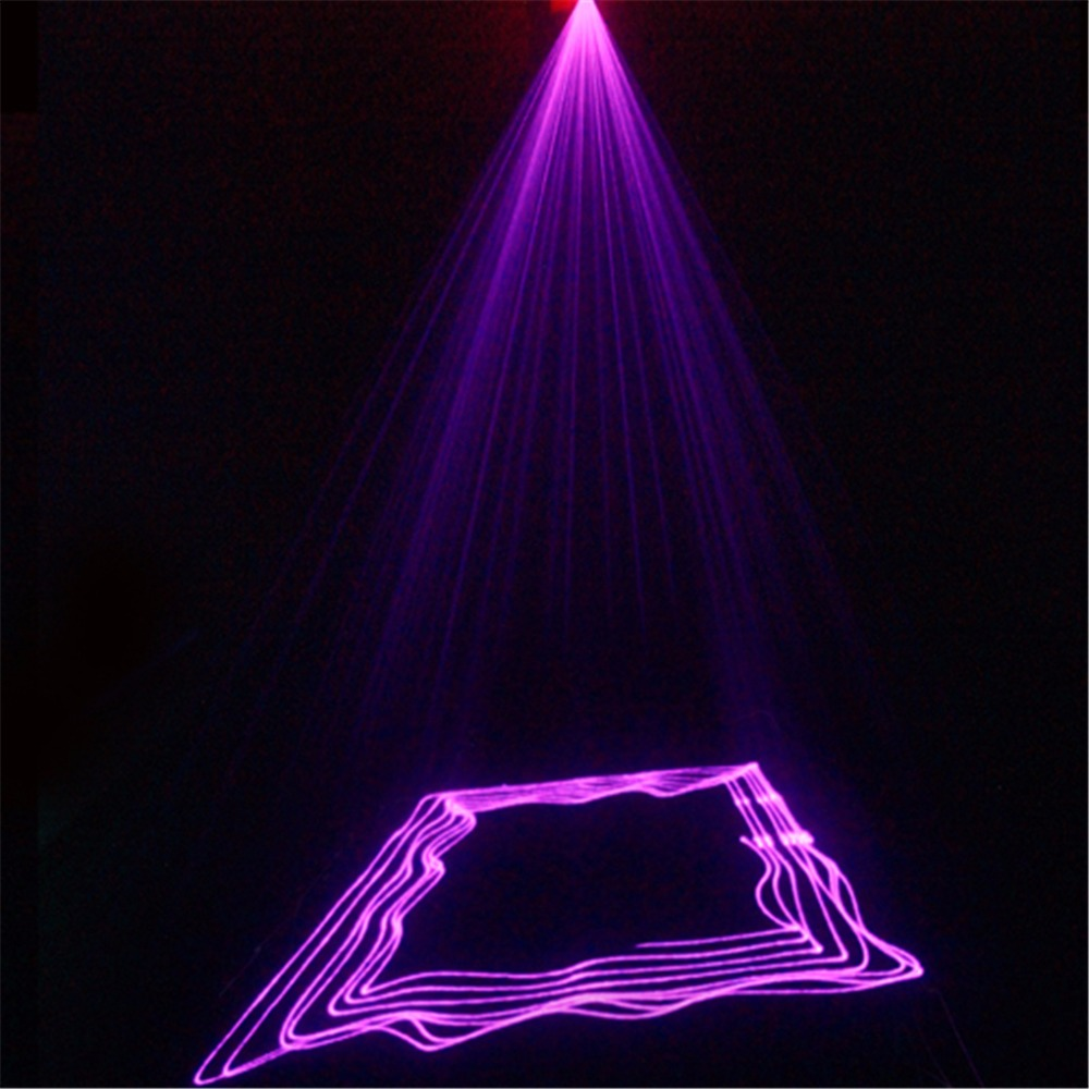 AUCD Mini Remote 8 CH DMX 150mW Purple Beam Laser Scanner Lights DJ Party Bar Projector Professional Stage Lighting DM-V150