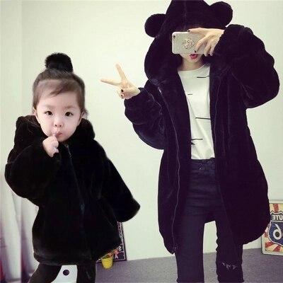 2018 famille correspondant mère fille bébé et papa correspondant vêtements tenues correspondant famille manteau vêtements enfants famille Costumes