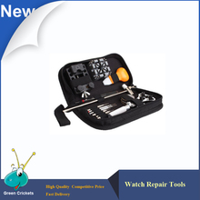 2015 Más Reciente de Reparación de Relojes Tool Kit Abrelatas de la Caja, Enlace Destornilladores, Detrás Encajona Remover Kit de Herramientas Con la Bolsa