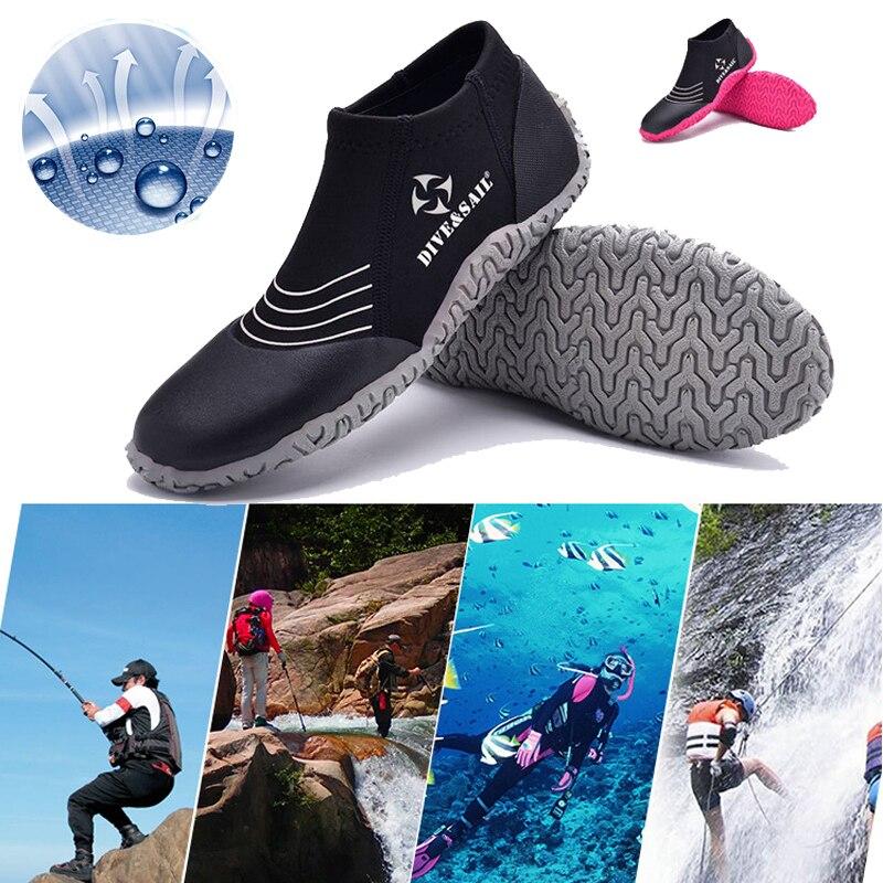 Unisexe Sous-Marine De Natation Chaussures 3mm Plongée sous-marine Plage Chaussettes Palmes de Plongée Sports Nautiques Plage Bottes Anti-slip