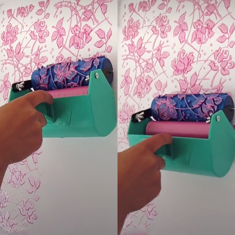 Single Color Wall Decoration Paint Painting Machine For 5 Inch Roller Brush Tool 3D Pattern Wallpaper Decoration Painting Tools