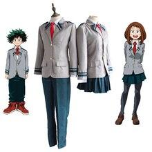 Boku לא גיבור אקדמיה AsuiTsuyu Yaoyorozu Momo בית ספר אחיד שלי גיבור אקדמיה OCHACO URARAKA Midoriya Izuku Cosplay תלבושות