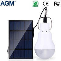 AGM LED Solar Lamp 1 5W 130LM Portable Led Bulb Light With Solar Energy Charger Panel