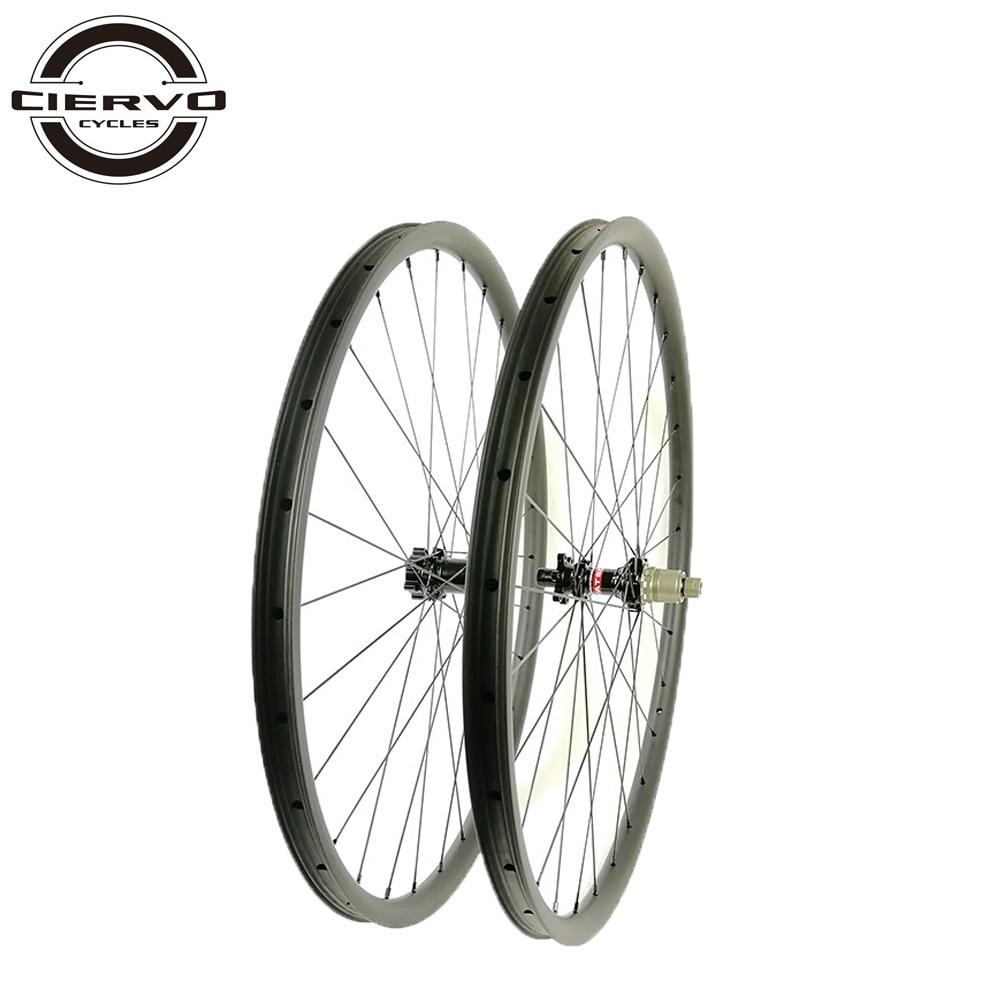1239g MTB XC Lefty 29er Carbon Wheelset 22mm x 28mm 29 inch Tubeless Hookless Bicycle Wheels 24h 28h Cross Country Gravel Bike