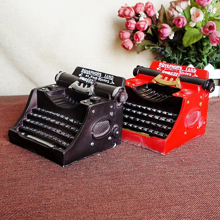 Vintage Retro Typewriter Camera Photography Props Resin Gifts Craft Ornaments Bar Coffee Home Decoration 105