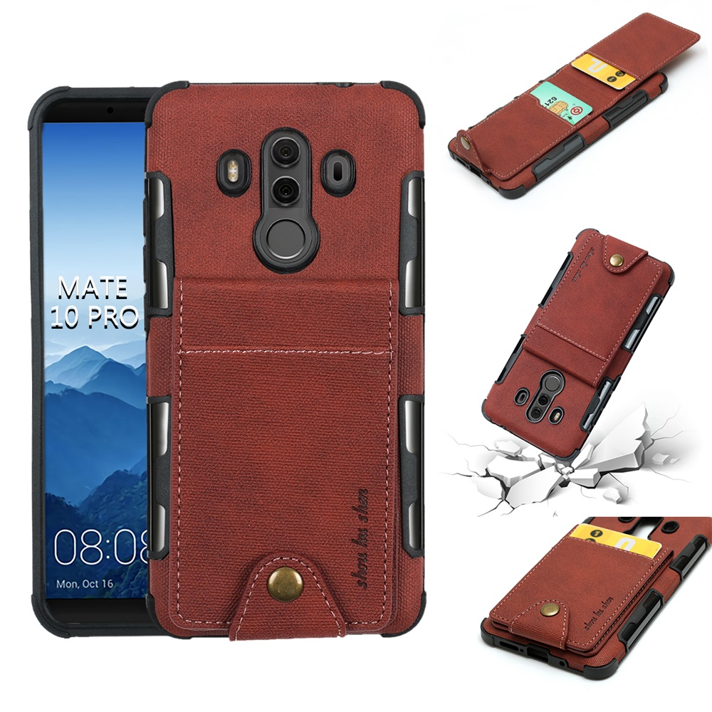 PU Wallet Buckle bag Cases For Huawei Mate 10 Lite Pro P9 Lite Case Y3 Fabric