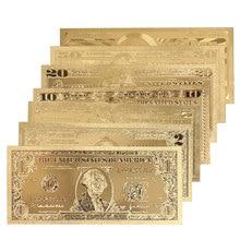 1, 2, 5, 10, 20, 50, 100 долларов, памятные Примечания, украшение, античное покрытие, золотая монета, США, античный сувенир, Прямая поставка