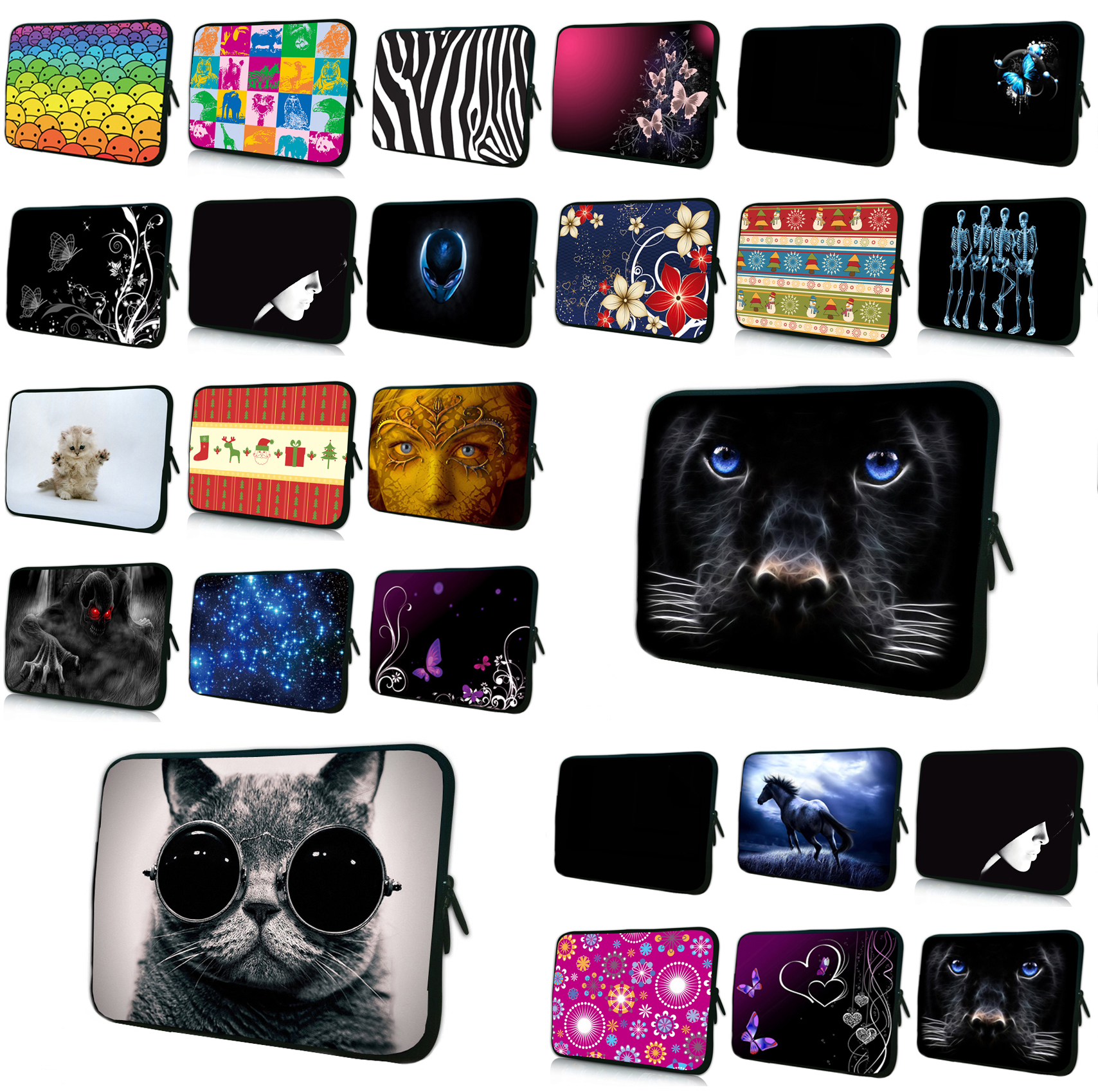 Notebook Slim Bags Cases 7 Tablet 10.1 Neoprene Liner Sleeve Pouch Bag For Xiaomi HP Macbook 11.6 12 13.3 14 15.4 17 Briefcase