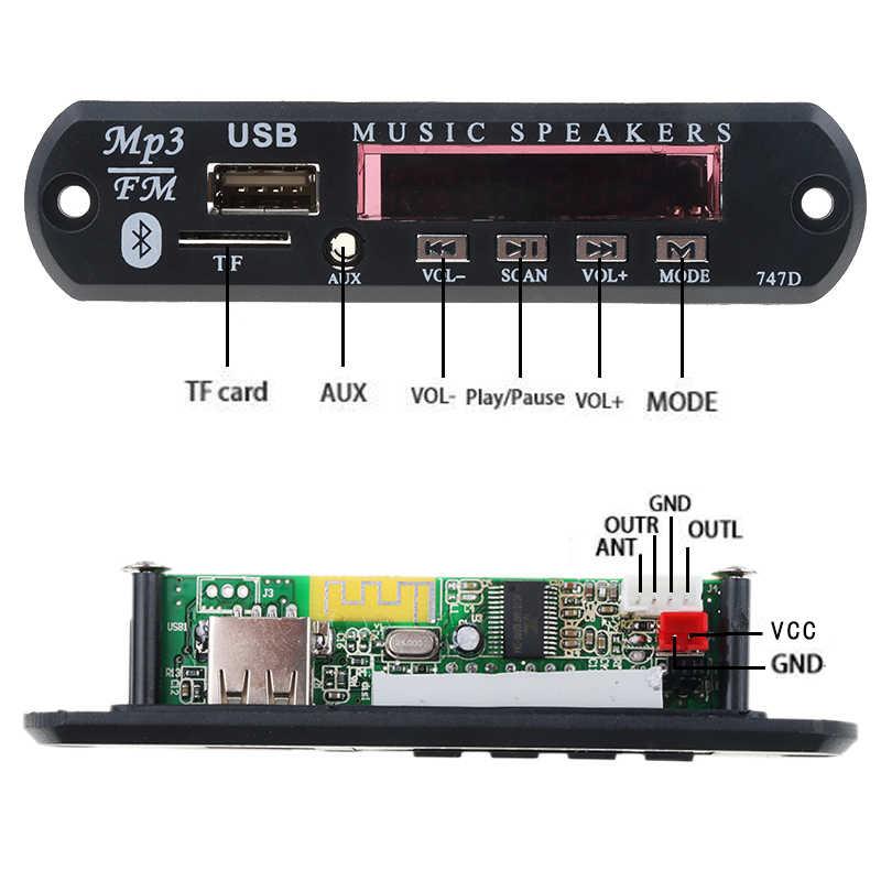 Kebidu DC 5V 12V Senza Fili di Bluetooth MP3 WMA Scheda di Decodifica Audio Modulo USB TF Radio di Musica Dell'automobile MP3 per accessori Auto
