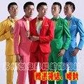 New Fashion Mens Bling Sequins Tuxedo SUIT PANTS Gangnam Classic Psy Wedding Jackets Costume Coat JAQUETA