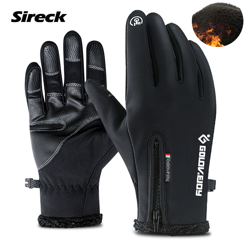 Sireck Waterproof Ski Gloves Men Women Windproof Snowmobile Snowboard Gloves Snow Cycling Sport Handwear Fleece Thermal Gloves
