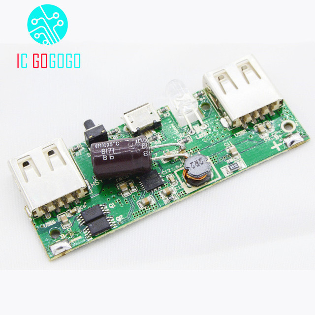 power 5v booster circuit board lithium battery charging pcb green