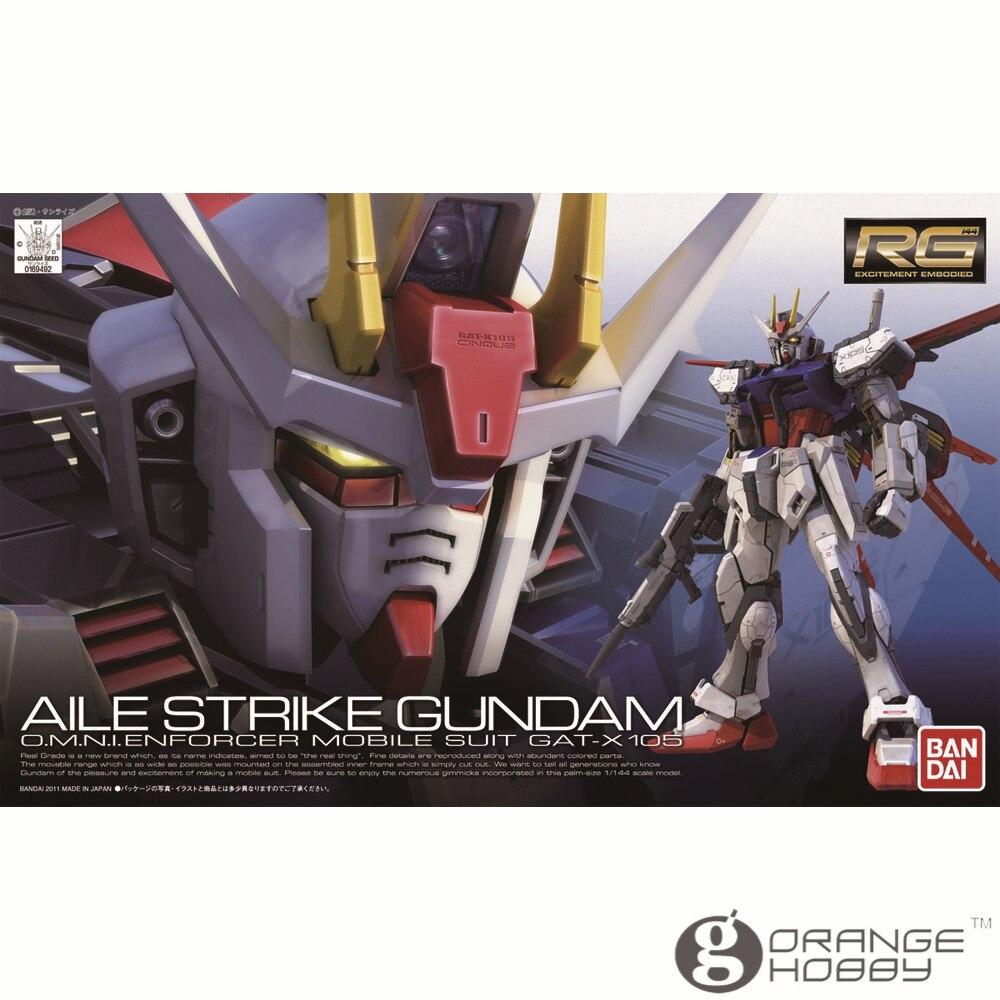 Oyuncaklar ve Hobi Ürünleri'ten Modeli Yapı Setleri'de OHS Bandai RG 03 1/144 GAT X 105 Aile Strike Gundam Mobil Takım Elbise Montaj Modeli Kitleri oh'da  Grup 1