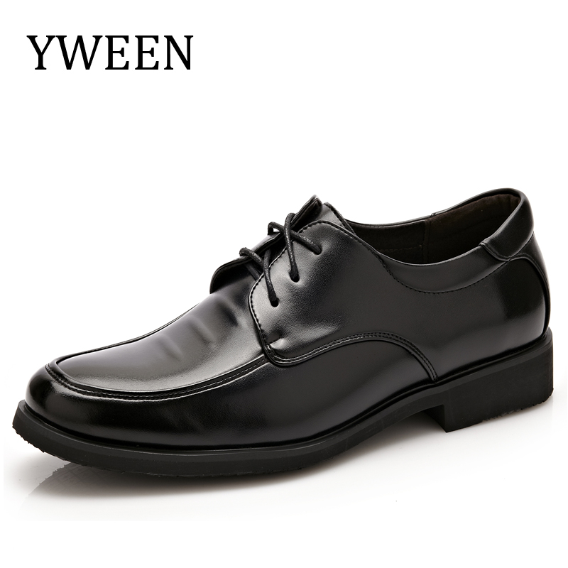 YWEEN New Fashion formal men s dress shoes leather wedding shoes men flats office for male