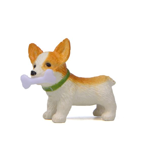1 Pc Cute Bones Corgi Dog Action Figure Toy Cartoon Animal Model PVC Ornament Doll Toy-1