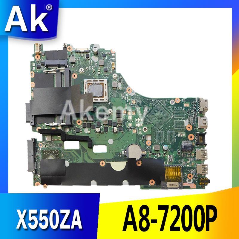 AK X550ZA Laptop motherboard for ASUS X550ZA X550ZE X550Z X550 K550Z X555Z VM590Z Test original mainboard A8-7200P LVDS/EDPAK X550ZA Laptop motherboard for ASUS X550ZA X550ZE X550Z X550 K550Z X555Z VM590Z Test original mainboard A8-7200P LVDS/EDP