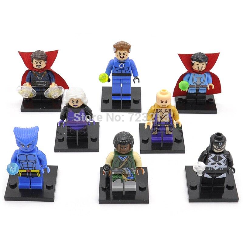 Single Sale Legoingly Doctor Strange Figure Beast Black bolt Clea Mr Fantastic Baron Mordo Karl Building Blocks Super Hero Toys