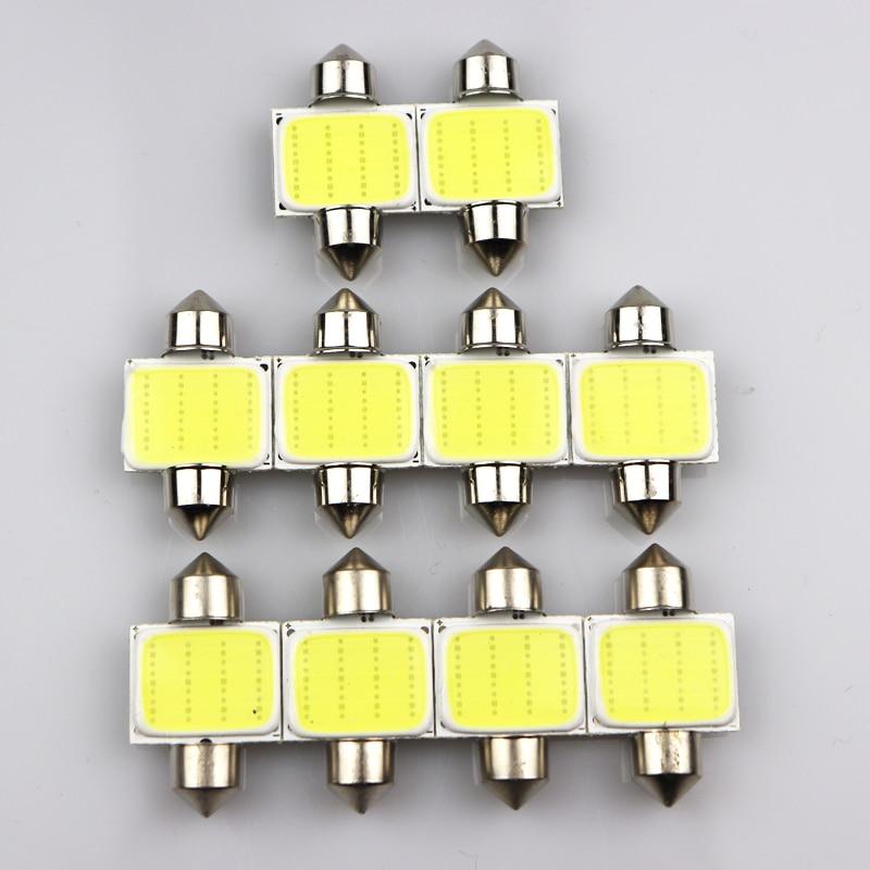 1 pièces feston 31mm 36mm 39mm 41mm Voiture COB 1.5W DC12V Intérieur Voiture ampoule LED Lampe Intérieur Dôme Feux Plaque lampes Ampoule