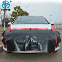 DERMAY 3PCS Car Fender Covers Protect Paintwork Magnetic Wing Cover Fender Bonnet Paint Auto Repair Tool