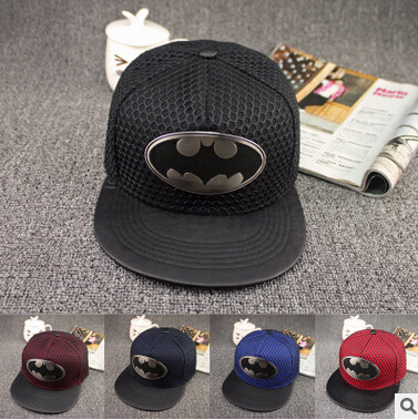 HOT 2016 New Fashion Summer Style Casual Batman Hip Hop Snapback Caps Hat For Men Women Europe and America Baseball Cap Hat Bone new hot style 2016outdoor fashion hat flat along the hip hop baseball cap creative sunbonnet sun hat
